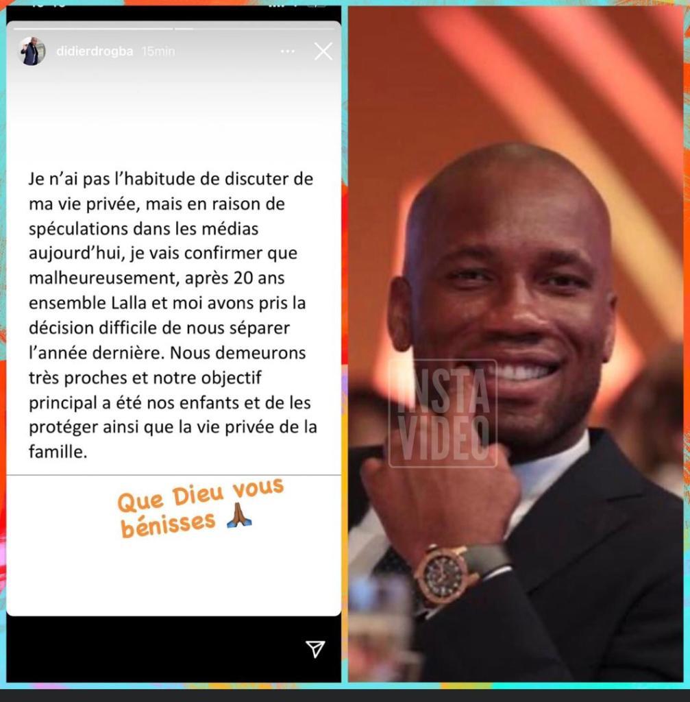 Didier Drogba divorce