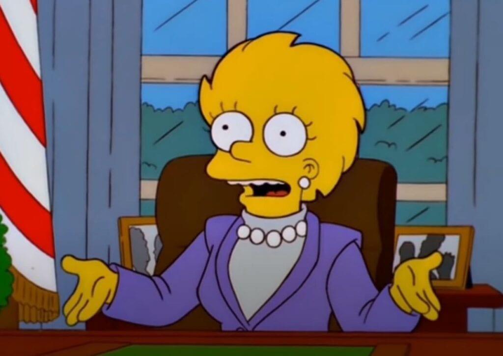 Kamala Harris Lisa Simpsons première présidente Etats-Unis
