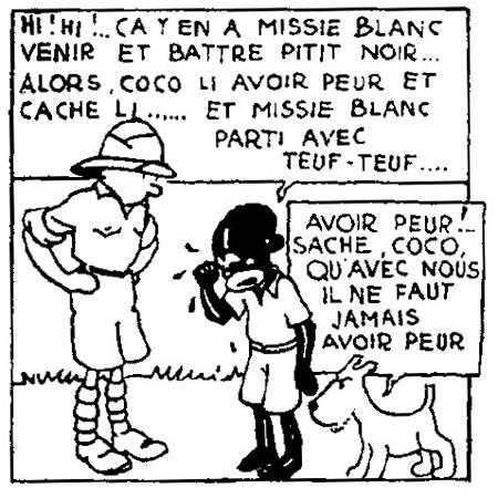 Tintin au Congo racisme