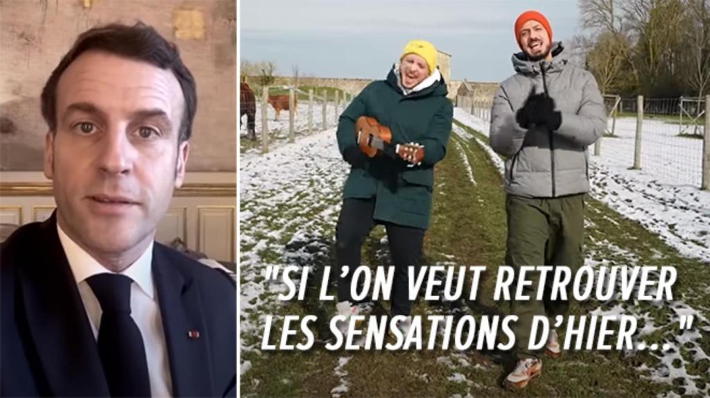 Emmanuel Macron challenge défis YouTube