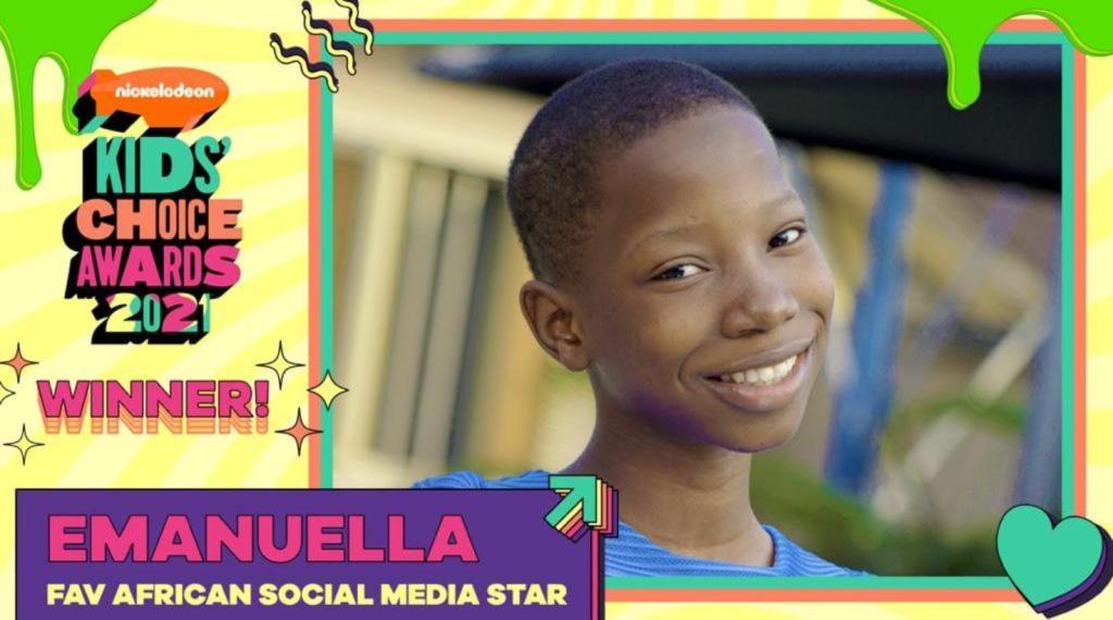 Nickelodeon kids'choice Emmanuella Mark Angel