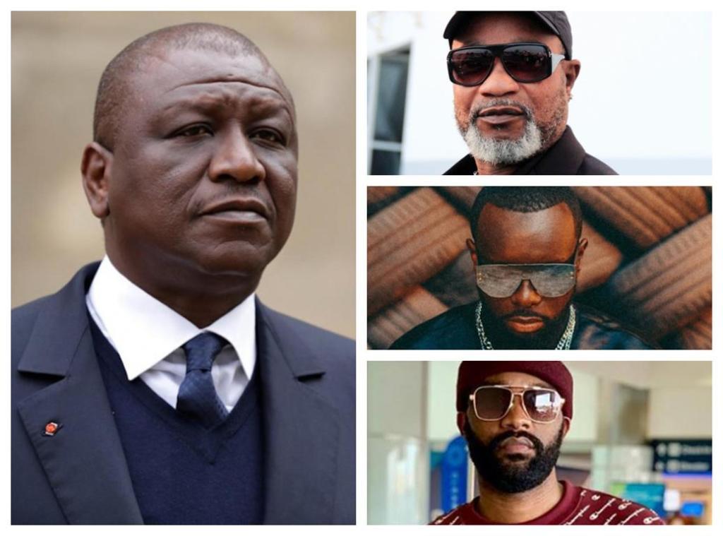 Hamed Bakayoko hommages artistes Koffi Fally Gims