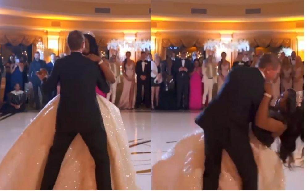 mariés tombe piste danse