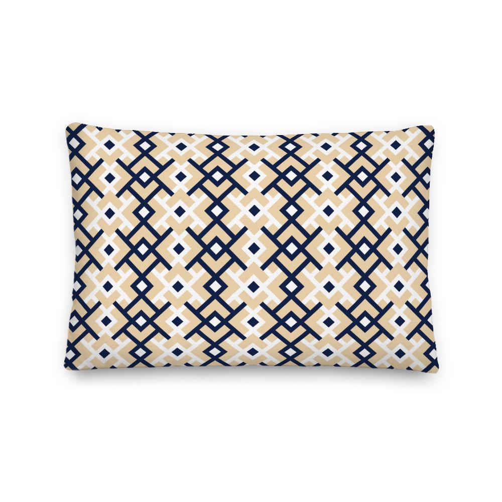 kuba scandi double diamond lumbar pillow indoor outdoor pillow