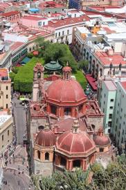 A view from the look out point in Guanajuato