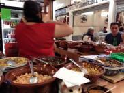 Eating breakfast at the Mercado de la Cruz