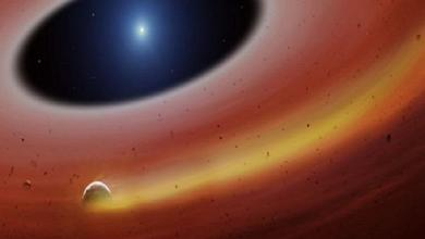 Planet in rubble disc discovered around 'dead star'