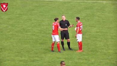 Bizarre: referee 'scores' against Harkemase Boys