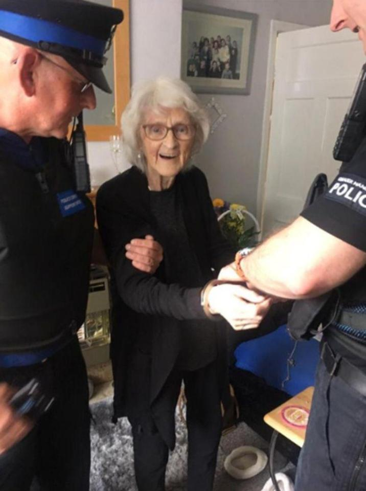 Josie Birds (93) wants to know what it feels to be naughty and arrested