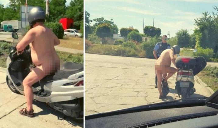 "German police stop naked scooter driver: ""It's just warm?"""