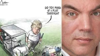 Barely 24 hours after this drawing about Donald Trump captured social media, the contract of the Canadian cartoonist Michael de Adder was canceled. But that is just a coincidence, the media company explains.