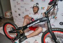 Extreme cyclist breaks record on 37 floors of hotel in Berlin