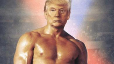 Trump posts a picture of himself as Rocky, and what he means by it