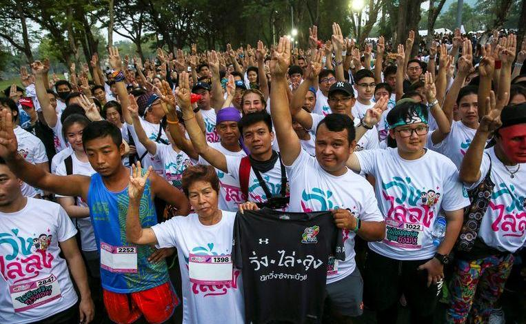 Thousands of protesters demand more democracy in Thailand