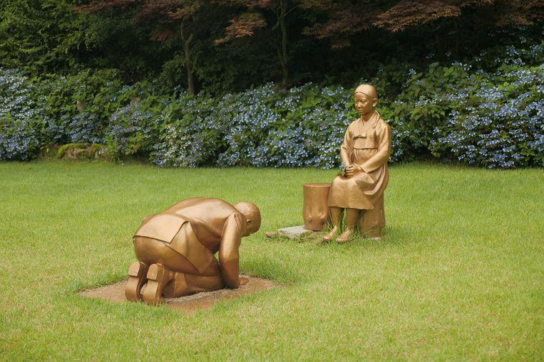 "Japan furious over South Korean statue resembling Prime Minister bowing to ""comfort girl"""