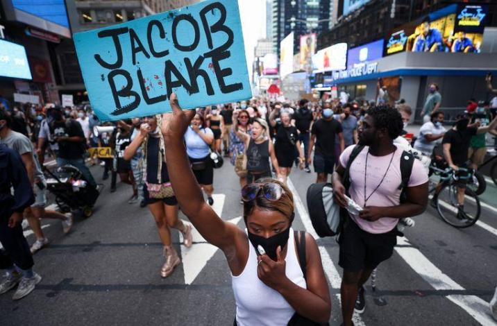 There were also protests in Times Square in New York.