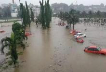 Flood covers houses in the city of Douala, Cameroon