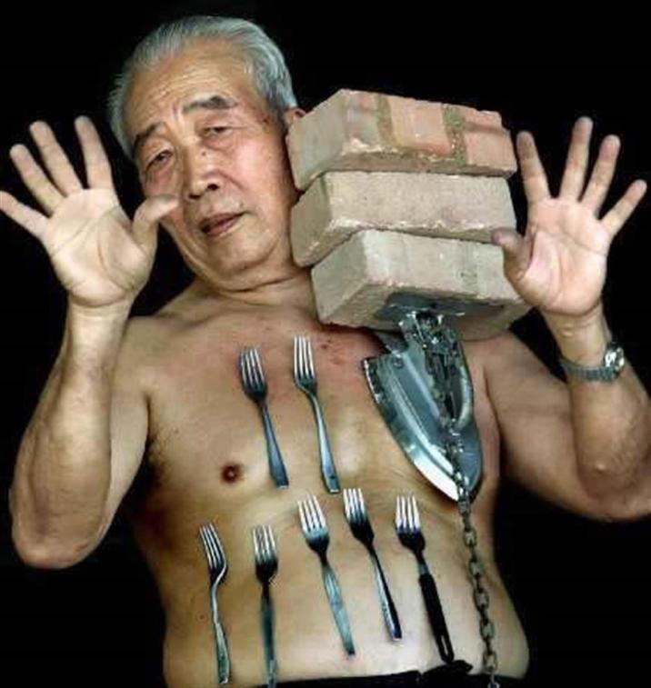 Mr. Liew possesses an incredible power to attract metal objects to his body