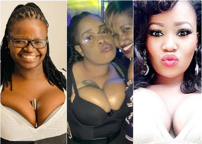 Top 5 Kenyan celebrities with overload chest & biggest teats
