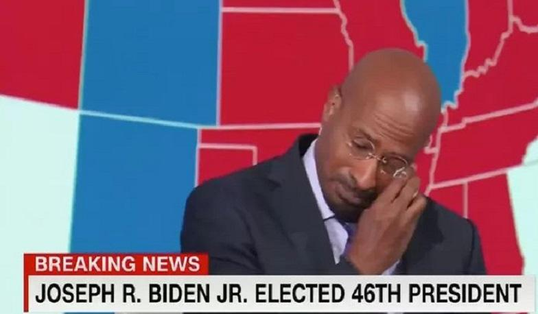 CNN commentator in tears over Biden's victory