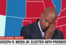 CNN commentator in tears over Biden's victory