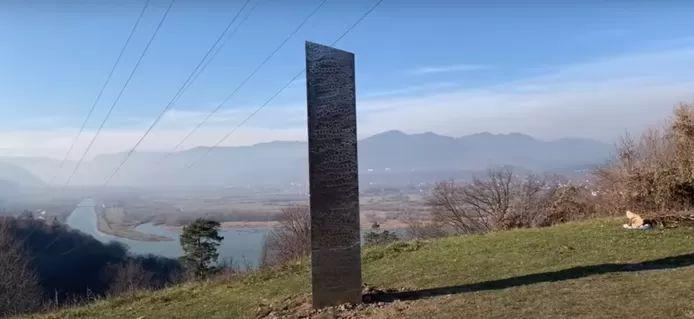 Mysterious monolith appeared in Romania