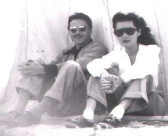 Princess Fawzia with her second husband Ismail Shirin