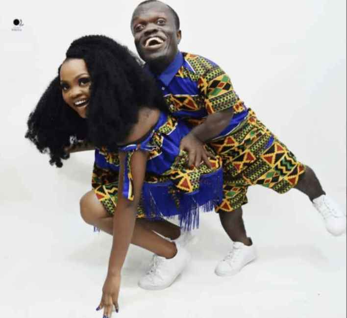 Victor Nwagu aka Nkubi and his fiancee on a pre-wedding picture