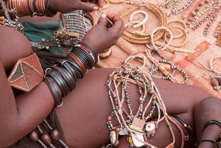 Traditional jewellery of Himba