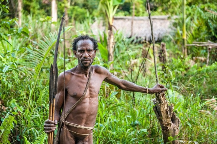 Cannibals from Papua New Guinea and Borneo