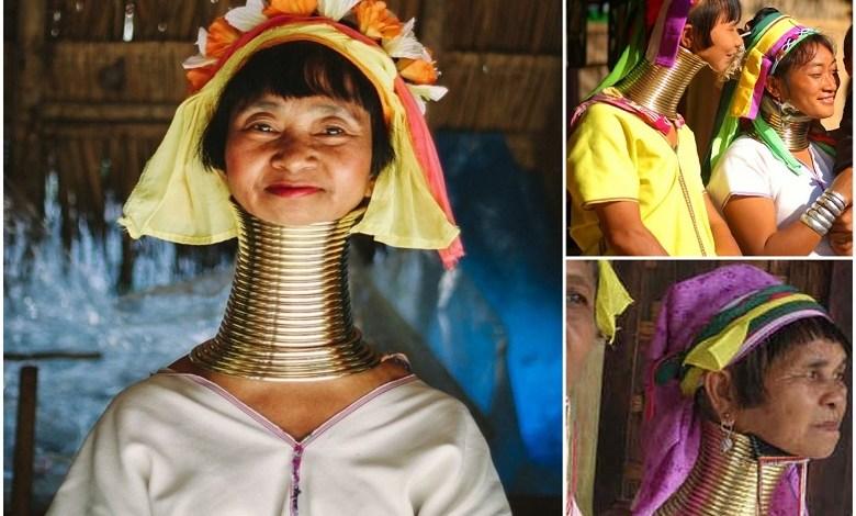 Padaung tribe: The female giraffes or women of long neck