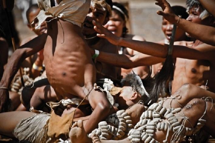 Indigenous tribe of Bushmen