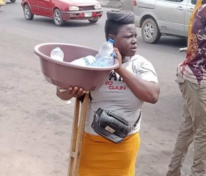 Mary Daniel in the street of Lagos