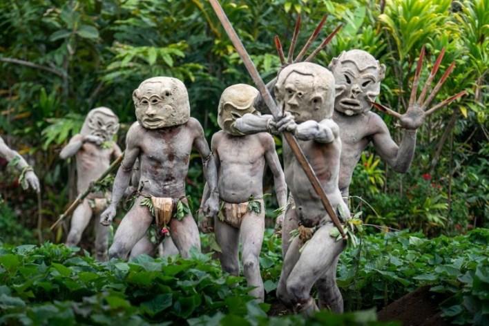 Mudmen of Asaro, Papua New Guinea