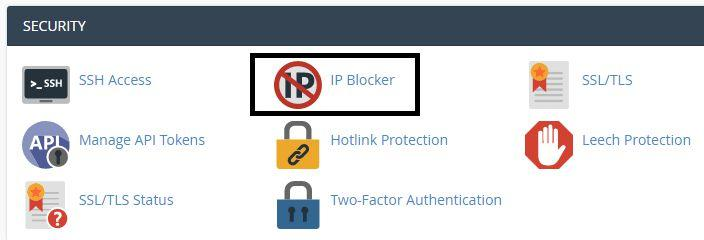 Login to your Cpanel and click IP Blocker