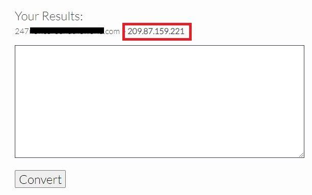 Copy the IP adress