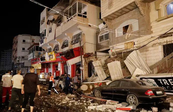 Damage in Gaza City after Israeli attacks