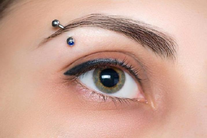 Types of eyebrow piercing for men and women