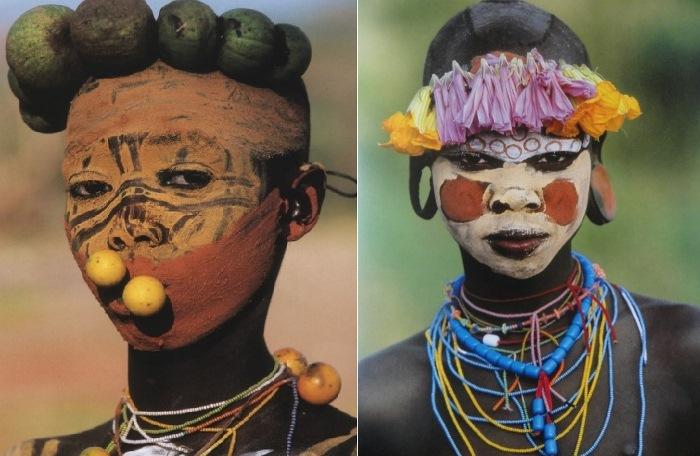 Representatives of the Surma and Mursi tribes
