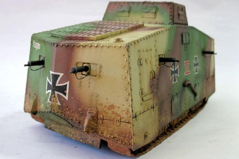 """Steel """"Mephistopheles"""" A7V: only surviving German tank in the First World War"""