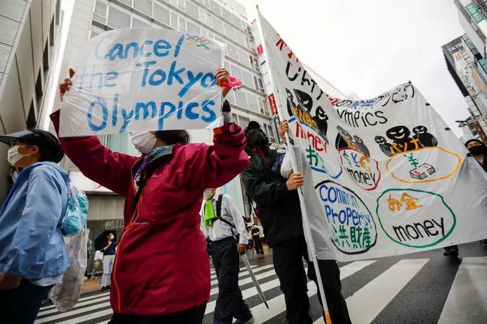 In Japan there is a lot of protest against the organization of the Olympic Games