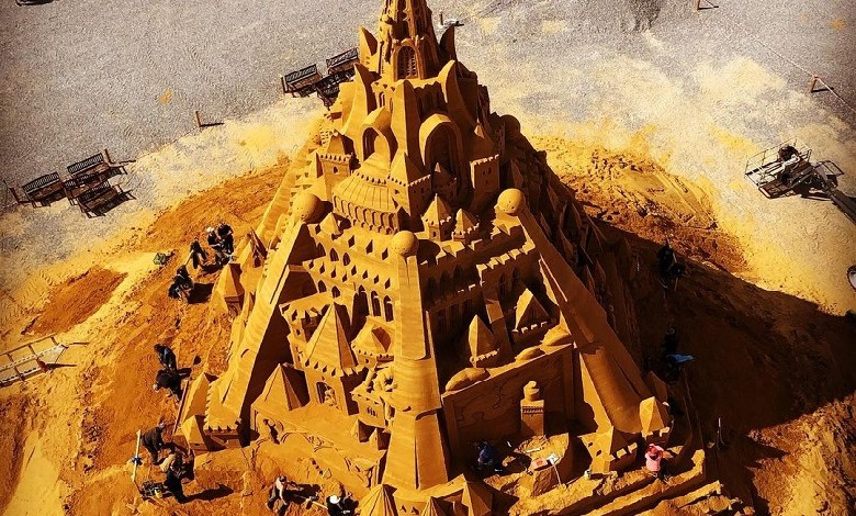 New world record: largest sandcastle is in Denmark