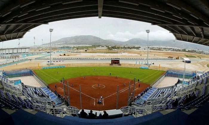 Olympic softball field, 2004.