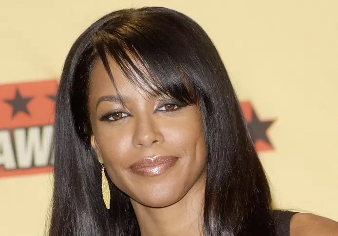 A photo of Aaliyah at the 2001 MTV Movie Awards.