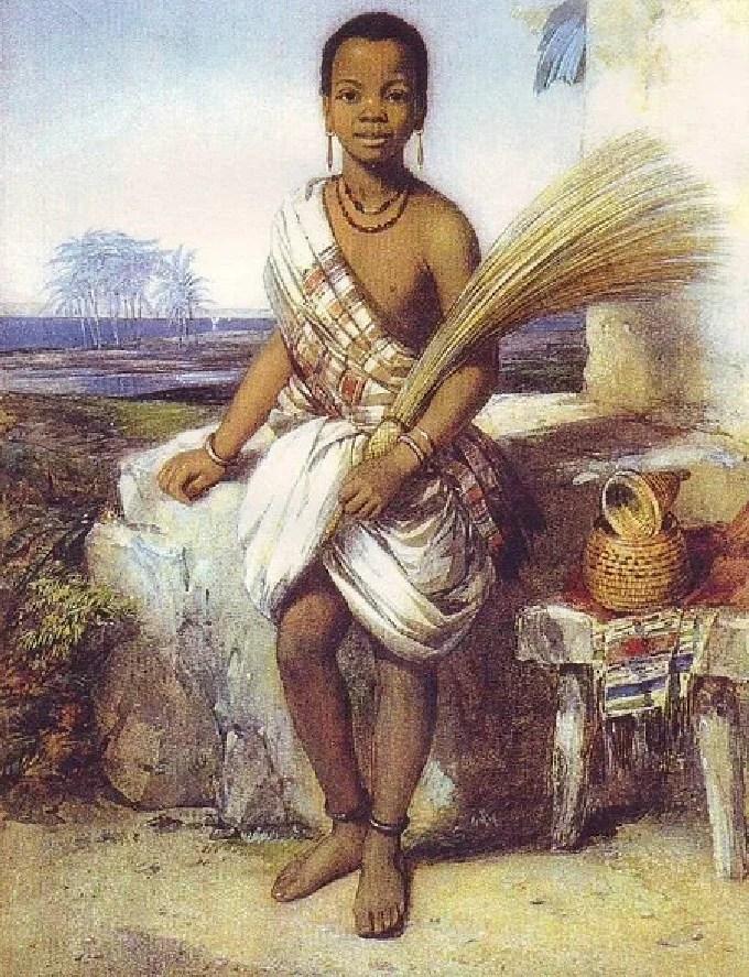 Portrait of Omoba Aina by Octavius Oakley