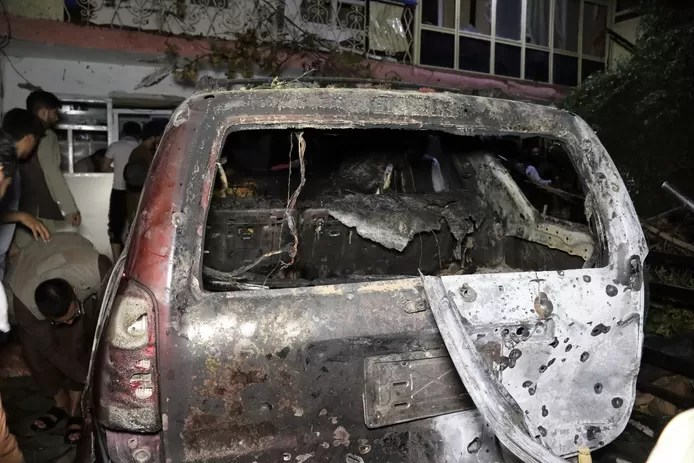 The US military is investigating whether there have been any civilian casualties in the drone attack it carried out in the Afghan capital Kabul on Sunday.