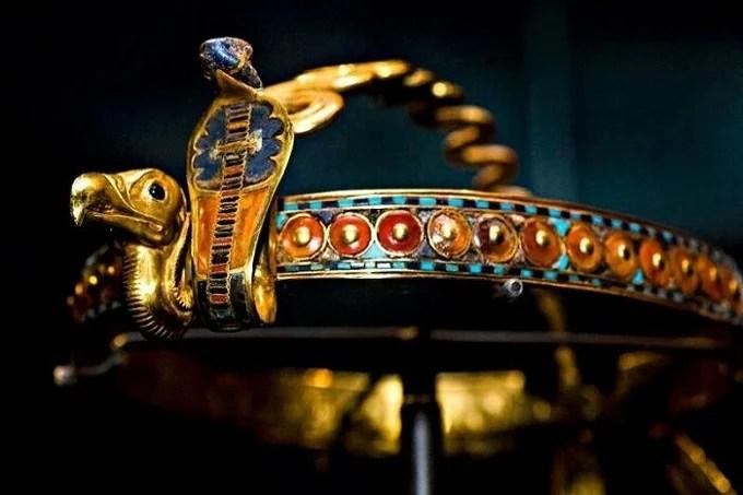 Gold diadem from the tomb of Pharaoh Tutankhamun