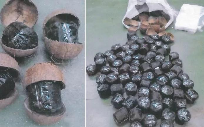 Drug dealer hides 140 kilos of cannabis in coconuts