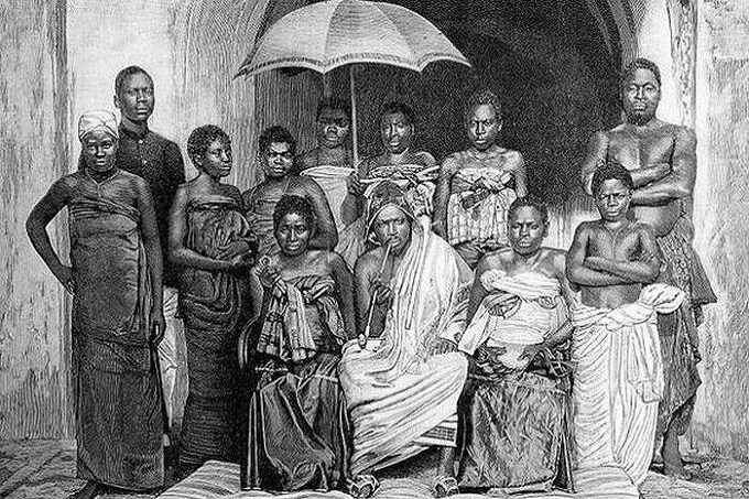 Women of Dahomey Amazons and their King