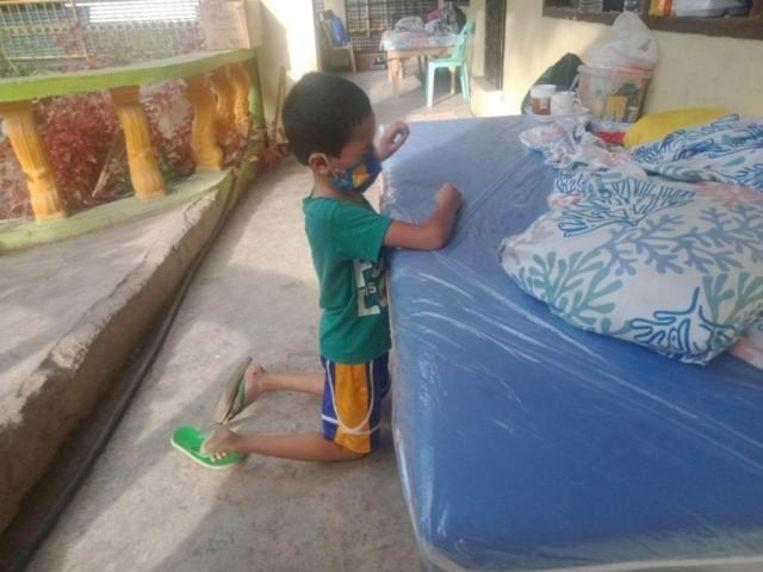 Boy (9), tested positive to Covid-19 cries and praying to God